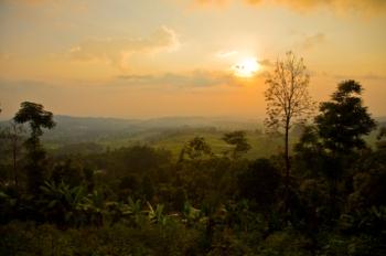 The view near Sukuh Temple near Solo