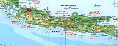 Island of java the pearl of south asia provinces of java gumiabroncs Gallery