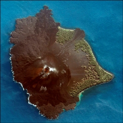 Krakatau view from the sky