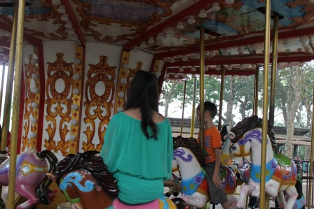 Horse carrousel at wendit water park