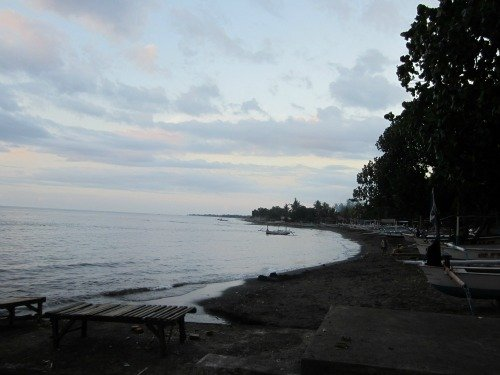Lovina beach in the morning