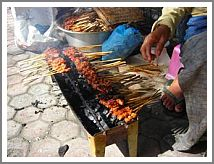 Sate made in traditional way